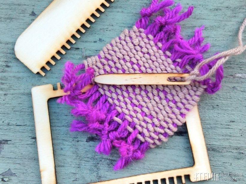 编织 迷你编织板 3D模型  图1
