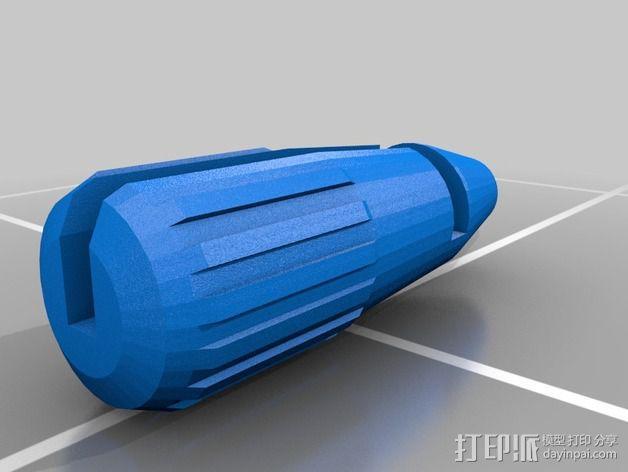 六角扳手把手 3D模型  图2