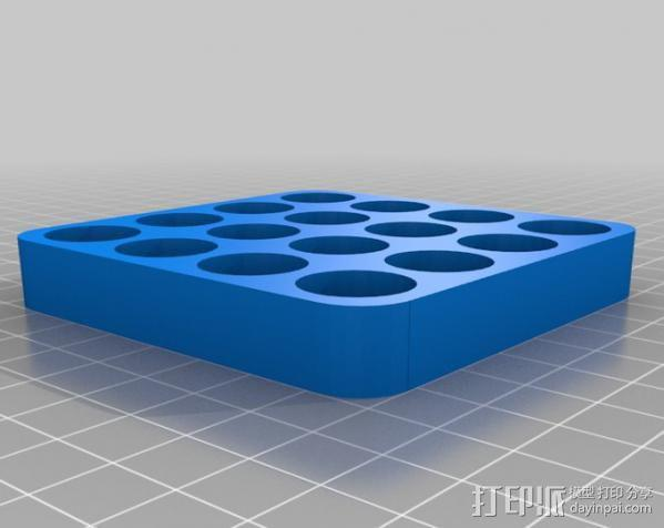 电池收纳架 3D模型  图1