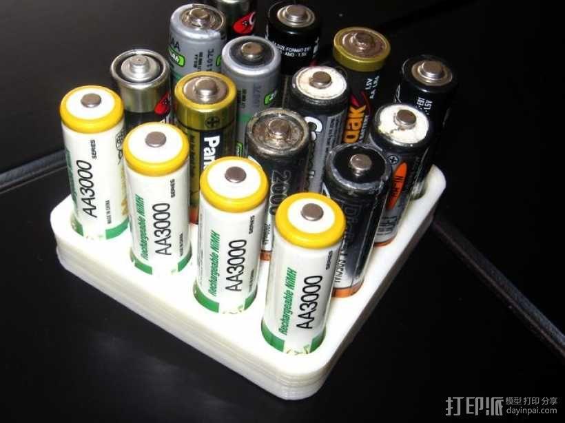 电池收纳架 3D模型  图2