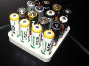 电池收纳架 3D模型