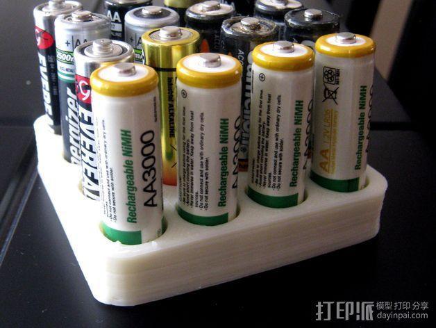 电池收纳架 3D模型  图4