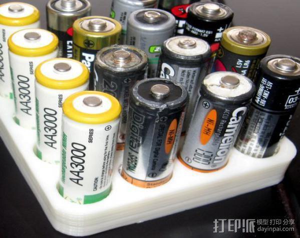 电池收纳架 3D模型  图3