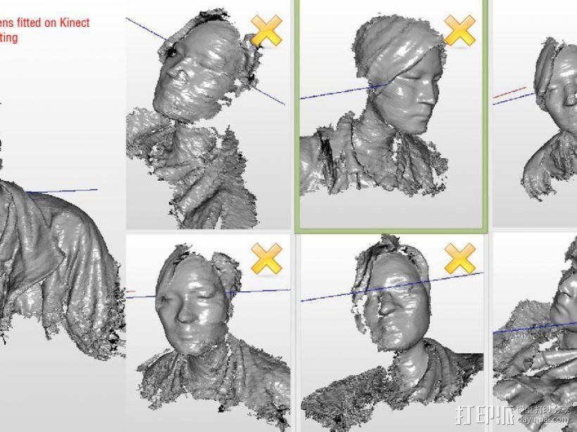 XBOX Kinect镜头固定架 3D模型  图5