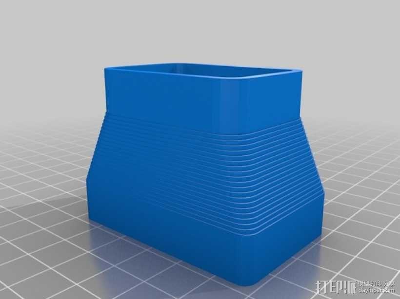 定制化方形管道配适器 3D模型  图2