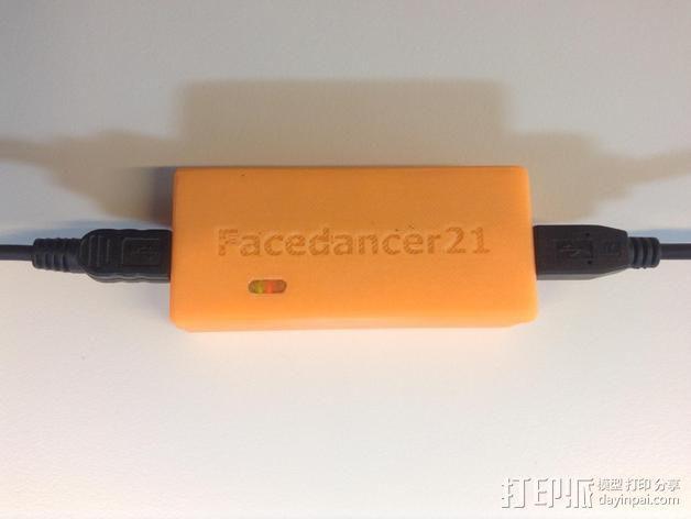 FaceDancer21电路板 外壳 3D模型  图6