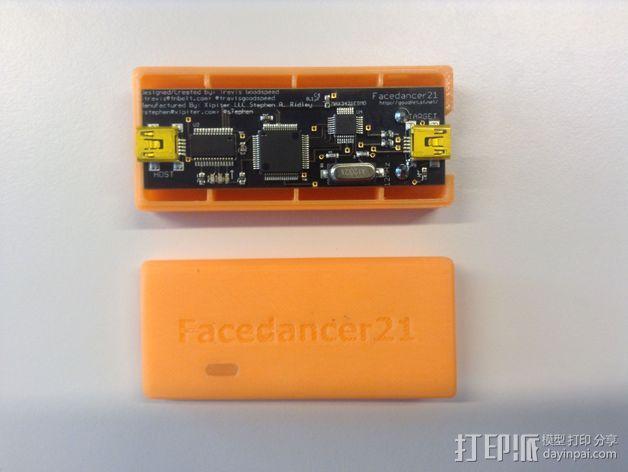 FaceDancer21电路板 外壳 3D模型  图5