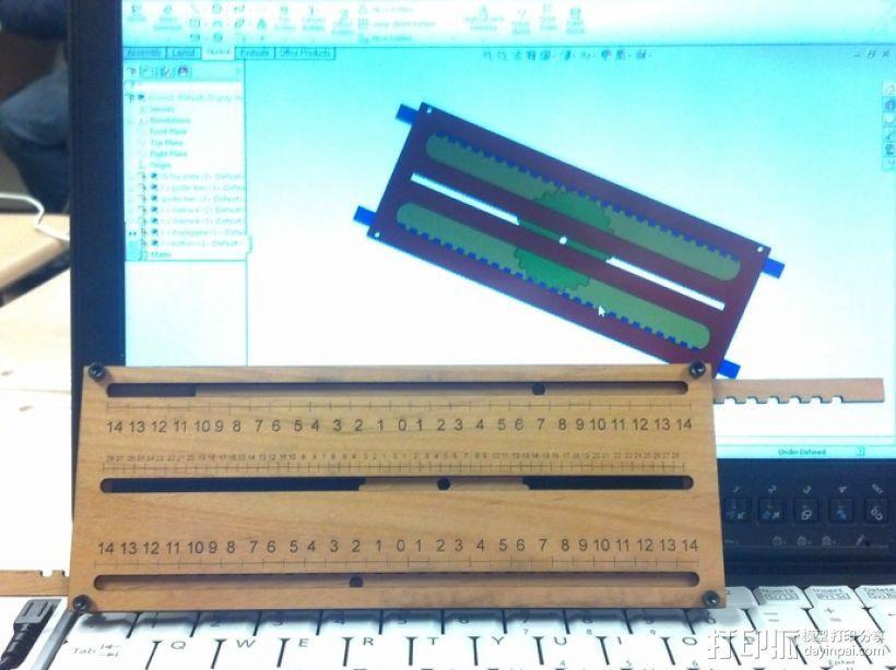 机械加法机 3D模型  图1