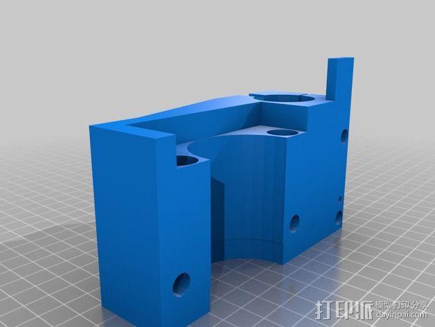 车床横向进给组装零部件 3D模型  图3