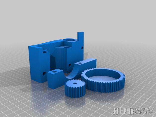 车床横向进给组装零部件 3D模型  图2