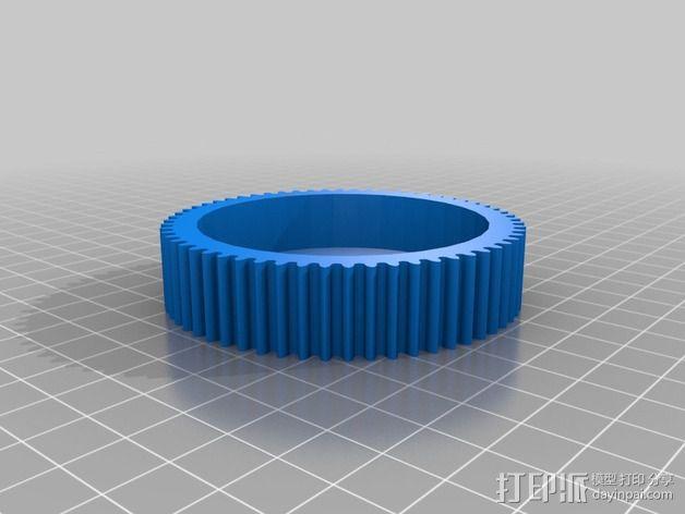 车床横向进给组装零部件 3D模型  图4