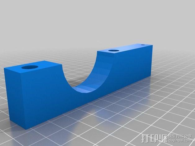 车床横向进给组装零部件 3D模型  图6