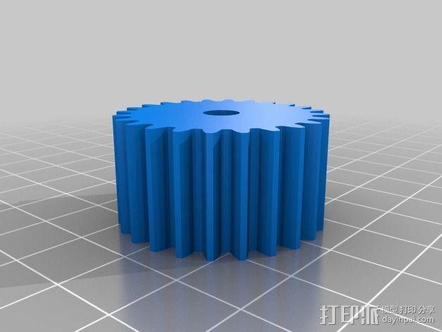 车床横向进给组装零部件 3D模型  图5