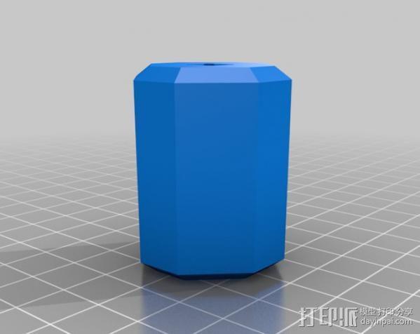 螺孔钻 夹头 3D模型  图1