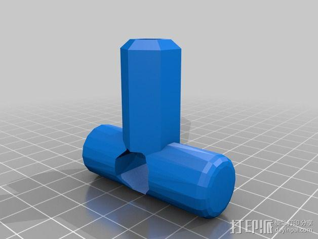 T字形钻头把手 3D模型  图2