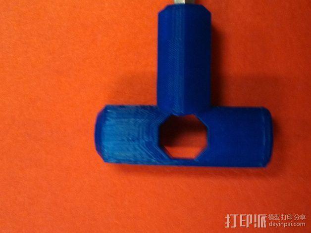 T字形钻头把手 3D模型  图4