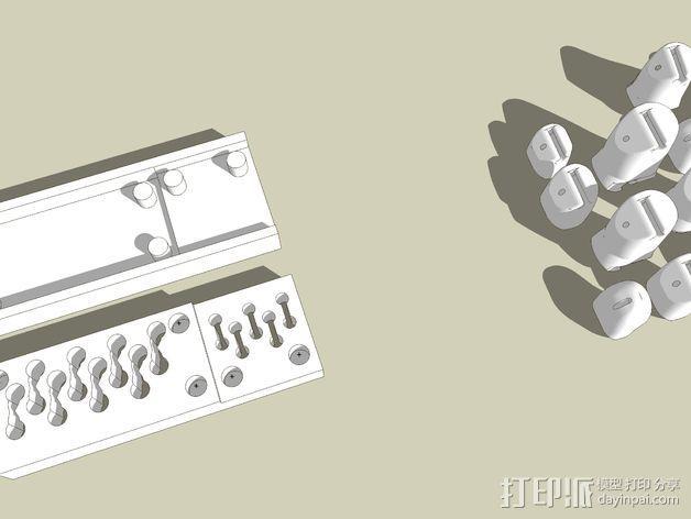 机械手手指铸件 3D模型  图2