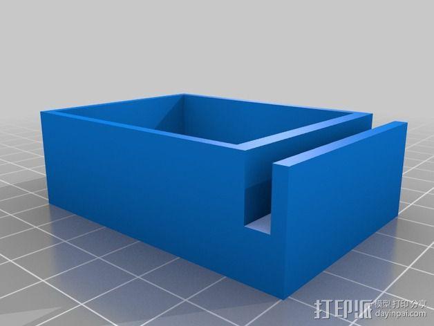 ShapeOko紧急开关固定架 3D模型  图1