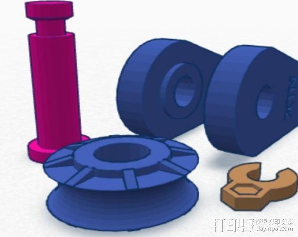 迷你滑轮 3D模型  图3