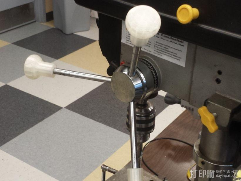 钻床 把手 3D模型  图1