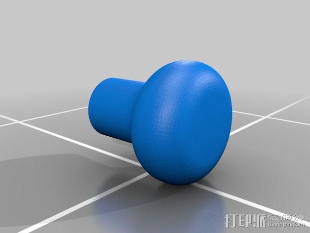 钻床 把手 3D模型  图2