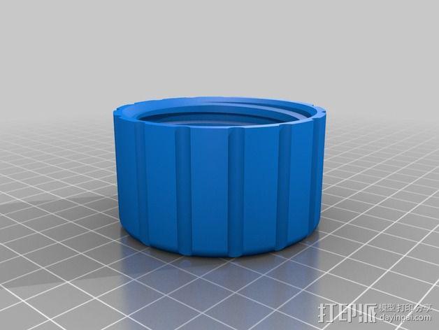 剪草机油箱箱盖 3D模型  图2