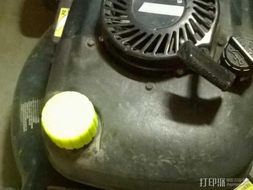 剪草机油箱箱盖 3D模型  图1