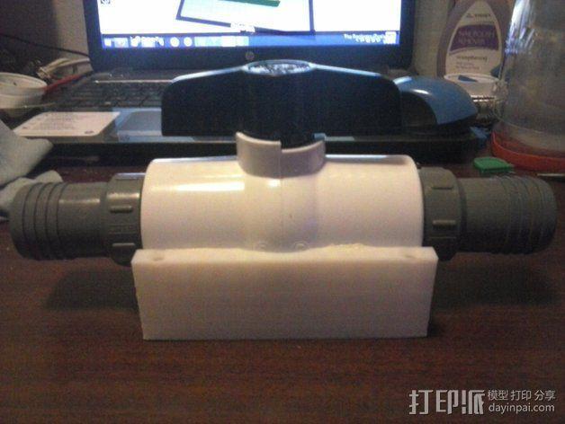 软管球形阀 3D模型  图1