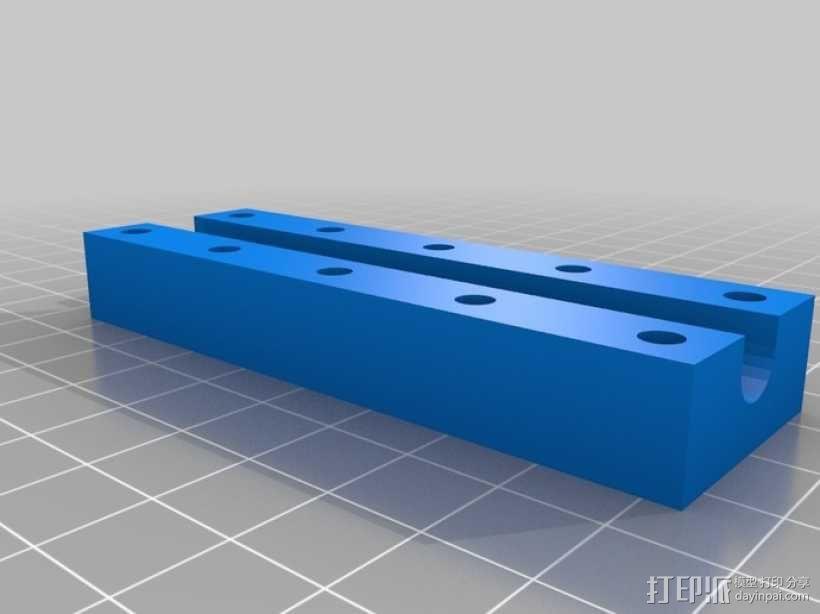 参数化长管夹具 3D模型  图1