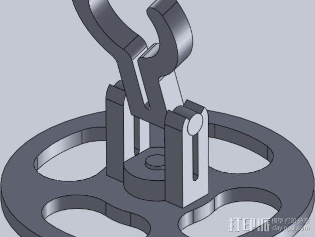迷你LED手电筒支架 3D模型  图1