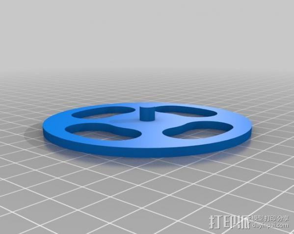 迷你LED手电筒支架 3D模型  图2