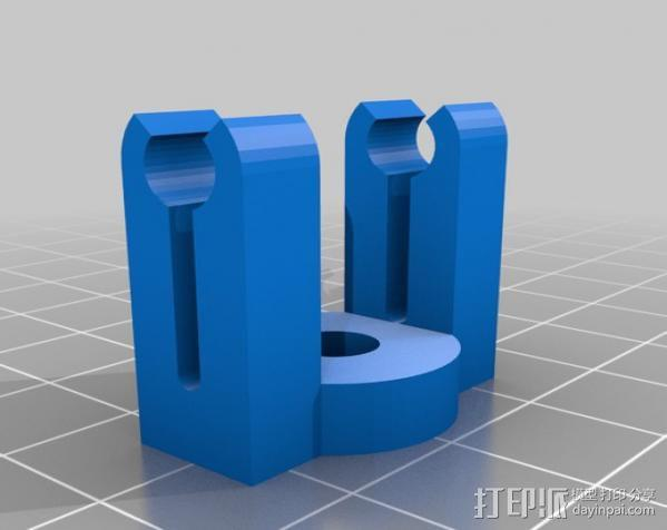 迷你LED手电筒支架 3D模型  图3
