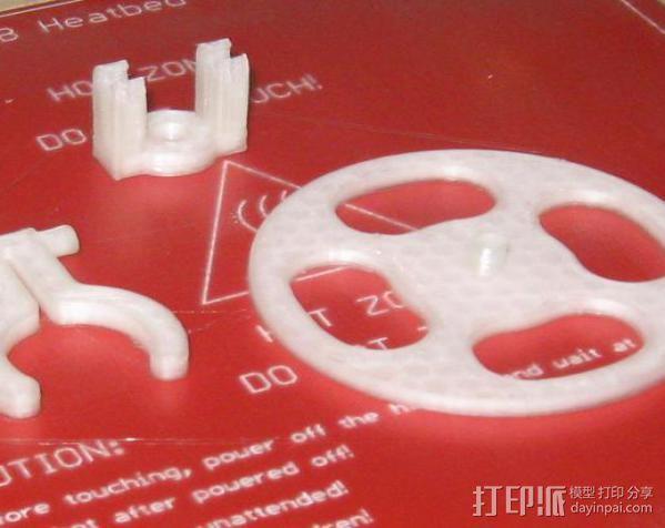 迷你LED手电筒支架 3D模型  图5