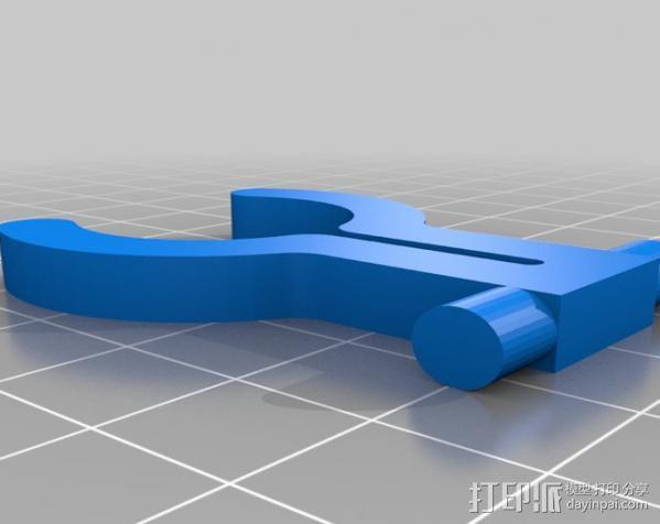 迷你LED手电筒支架 3D模型  图4