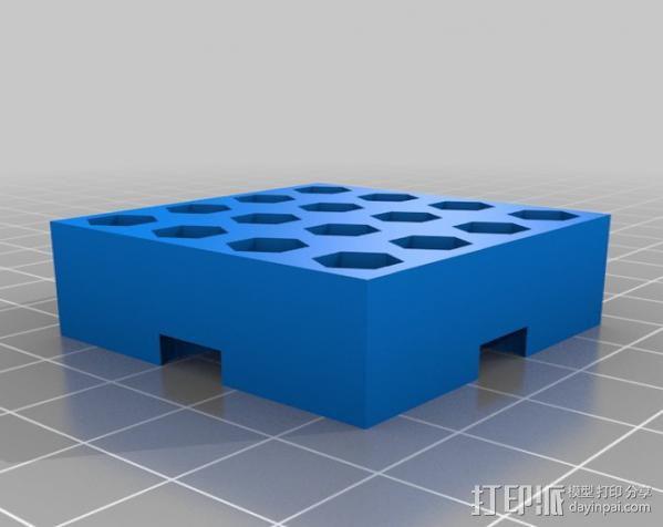 模块化钻头架 3D模型  图3