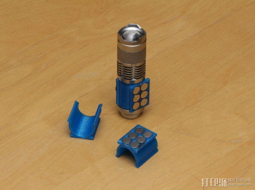 SIPIK SK68迷你手电筒 磁力架 3D模型  图1