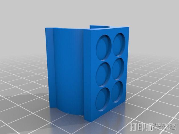 SIPIK SK68迷你手电筒 磁力架 3D模型  图4