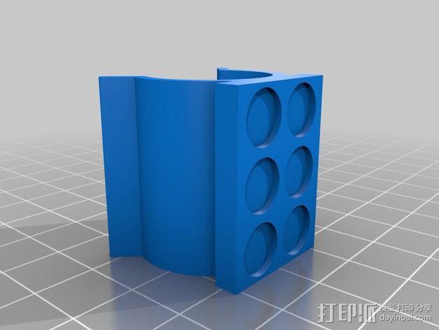 SIPIK SK68迷你手电筒 磁力架 3D模型  图5