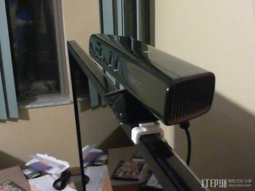 Kinect体感设备固定夹 3D模型  图1