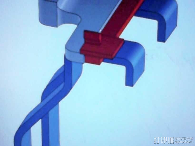 Kinect体感设备固定夹 3D模型  图3