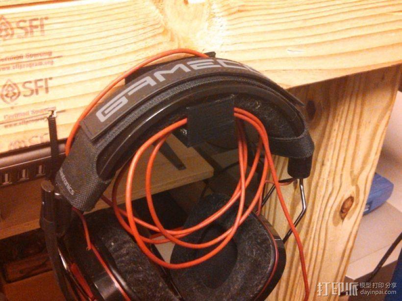 耳机 挂钩 3D模型  图3