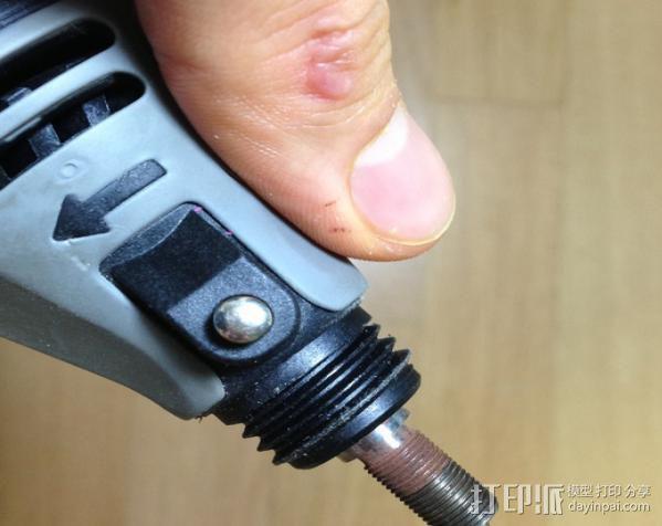 DREMEL 395电磨机 底座 3D模型  图2