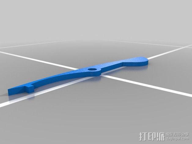 军刀 3D模型  图3