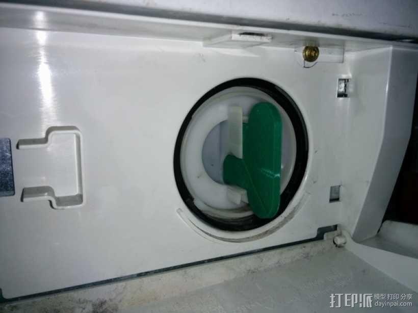 西门子洗衣机 棉绒过滤板 3D模型  图3