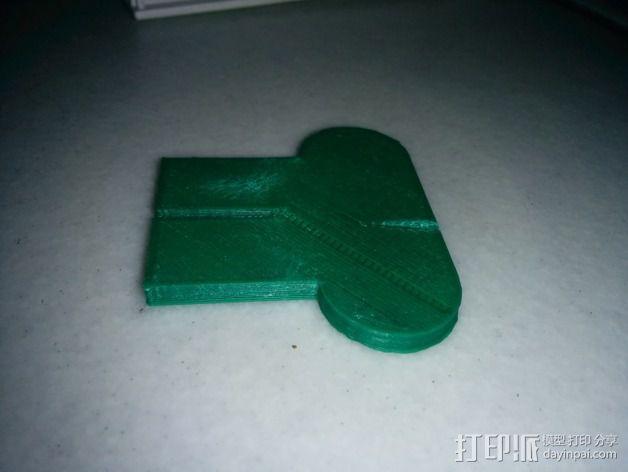 西门子洗衣机 棉绒过滤板 3D模型  图2
