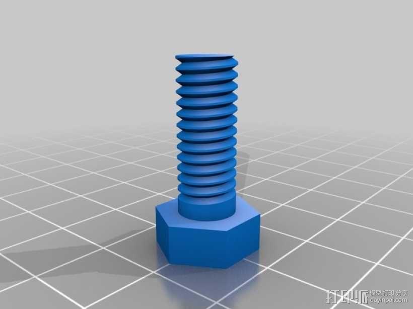 螺丝螺母 3D模型  图1