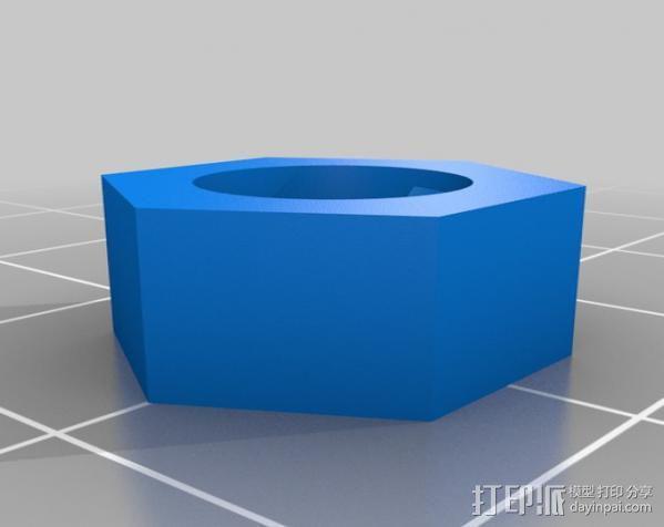 螺丝螺母 3D模型  图2