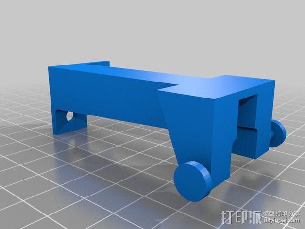 压力机底漆滑槽 3D模型  图2