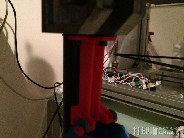 压力机底漆滑槽 3D模型  图3