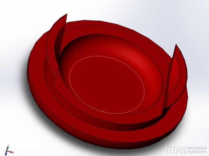 奔驰精灵 牵引钩外壳 3D模型  图1